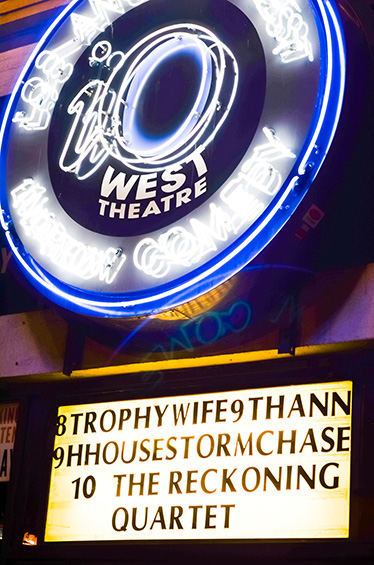 The iOWest marquee the night of Trophy Wife's 9th Anniversary Show